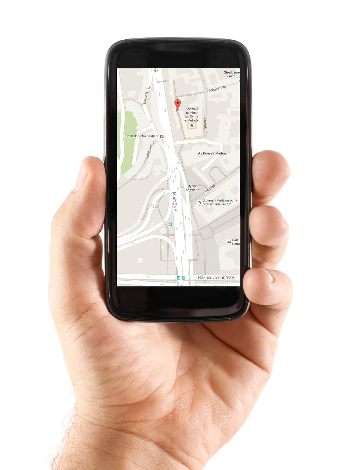 GPS sledovanie v mobilnom telefóne